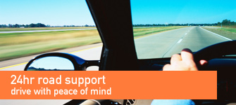 24hr road support - drive with peace of mind